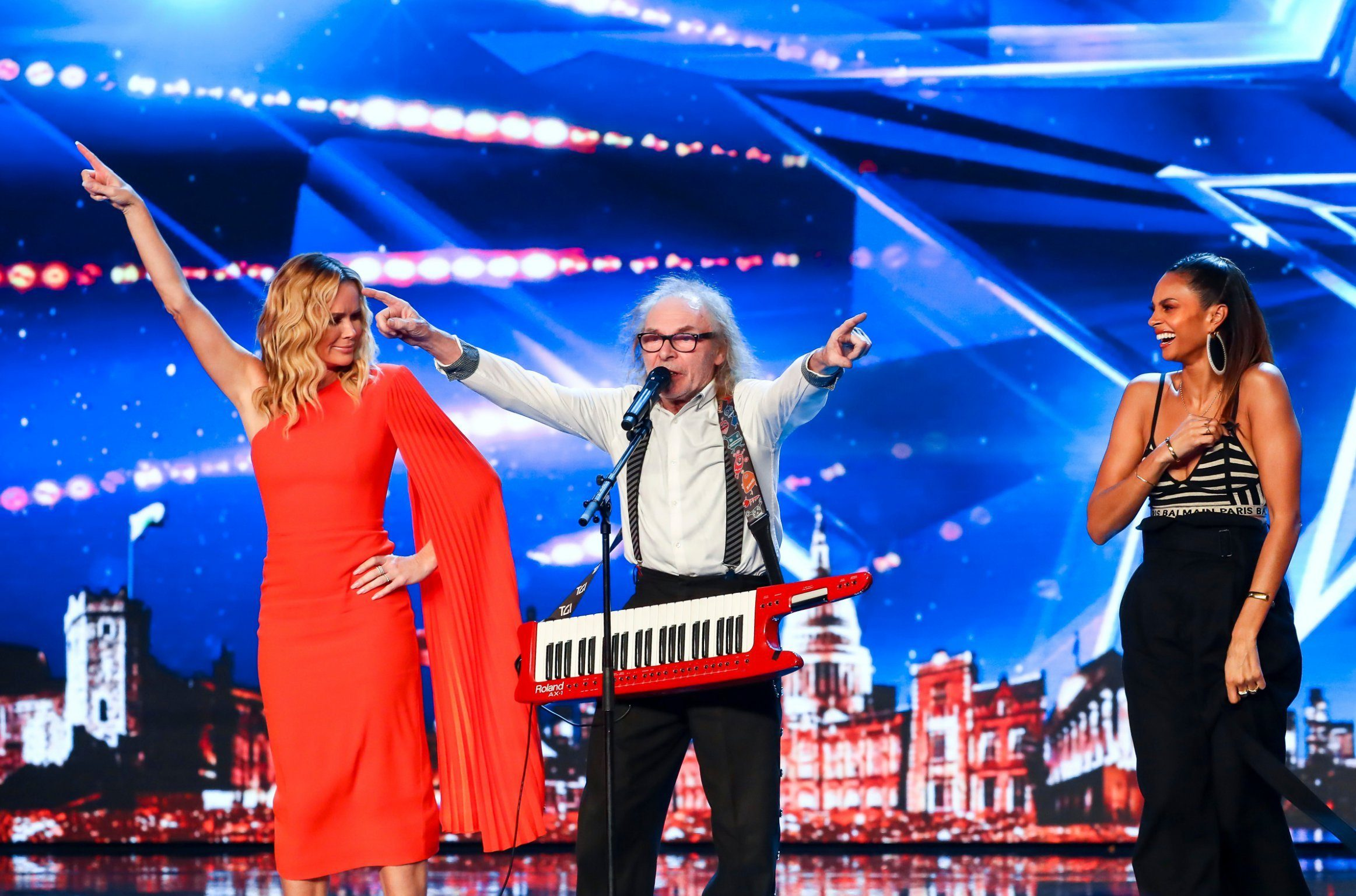 STRICT EMBARGO - NO USE BEFORE 12:00PM GMT (MIDDAY) SATURDAY 11 MAY 2019 - Editorial use only. No book publishing. Mandatory Credit: Photo by Dymond/Thames/Syco/REX (10234172au) Russell T Bird aged 71. 'Britain's Got Talent' TV Show, Series 13, Episode 6, UK - 11 May 2019
