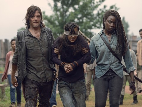 The Walking Dead's Michonne slays zombies in epic first picture from season 10