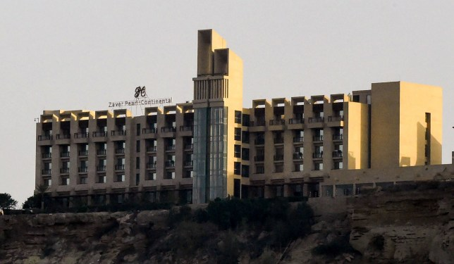 Pearl Continental hotel located on a hill in the southwestern Pakistani city of Gwadar, where gunmen stormed the building