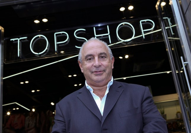 Sir Philip Green, the billionaire owner of Arcadia Group Ltd., poses for a photograph before a television interview at his new Topshop store in London, U.K., on Thursday, May 20, 2010. Green opened the store in London's Knightsbridge, the 303rd Topshop store in the U.K. Photographer: Chris Ratcliffe/Bloomberg via Getty Images