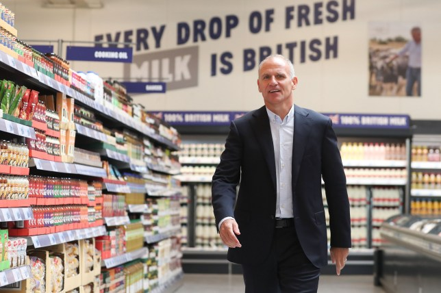 Tesco CEO Dave Lewis poses for a photograph inside a Jack's store during its press launch in Chatteris, near Cambridge, east of England, on September 19, 2018, during the lauch of the supermarket giant's latest discount venture, Jack's. - British supermarket giant Tesco on Wednesday announced plans for discount food stores across the country, as it comes under increasing pressure from German-owned Aldi and Lidl. Tesco, which is Britain's biggest retailer, said the first two Jack's stores open Thursday followed by up to another 13 over the next six months. (Photo by Daniel LEAL-OLIVAS / AFP) (Photo credit should read DANIEL LEAL-OLIVAS/AFP/Getty Images)