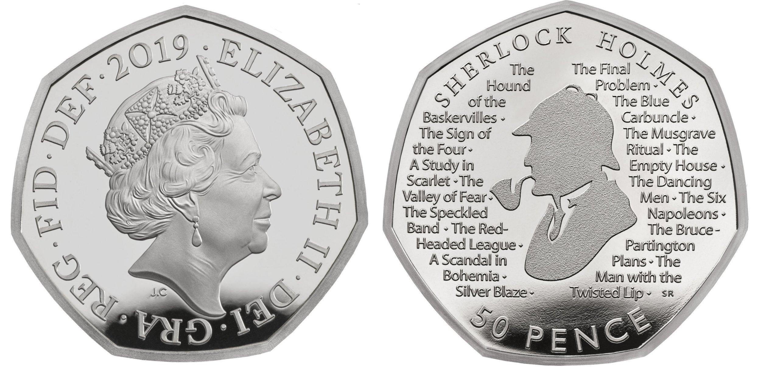Royal Mint's new Sherlock Holmes coin