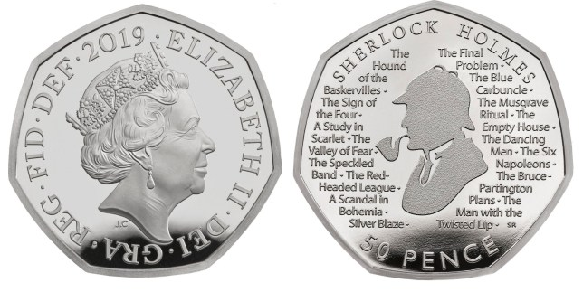 Sherlock Holmes honoured with place on Royal Mint's new 50p coin
