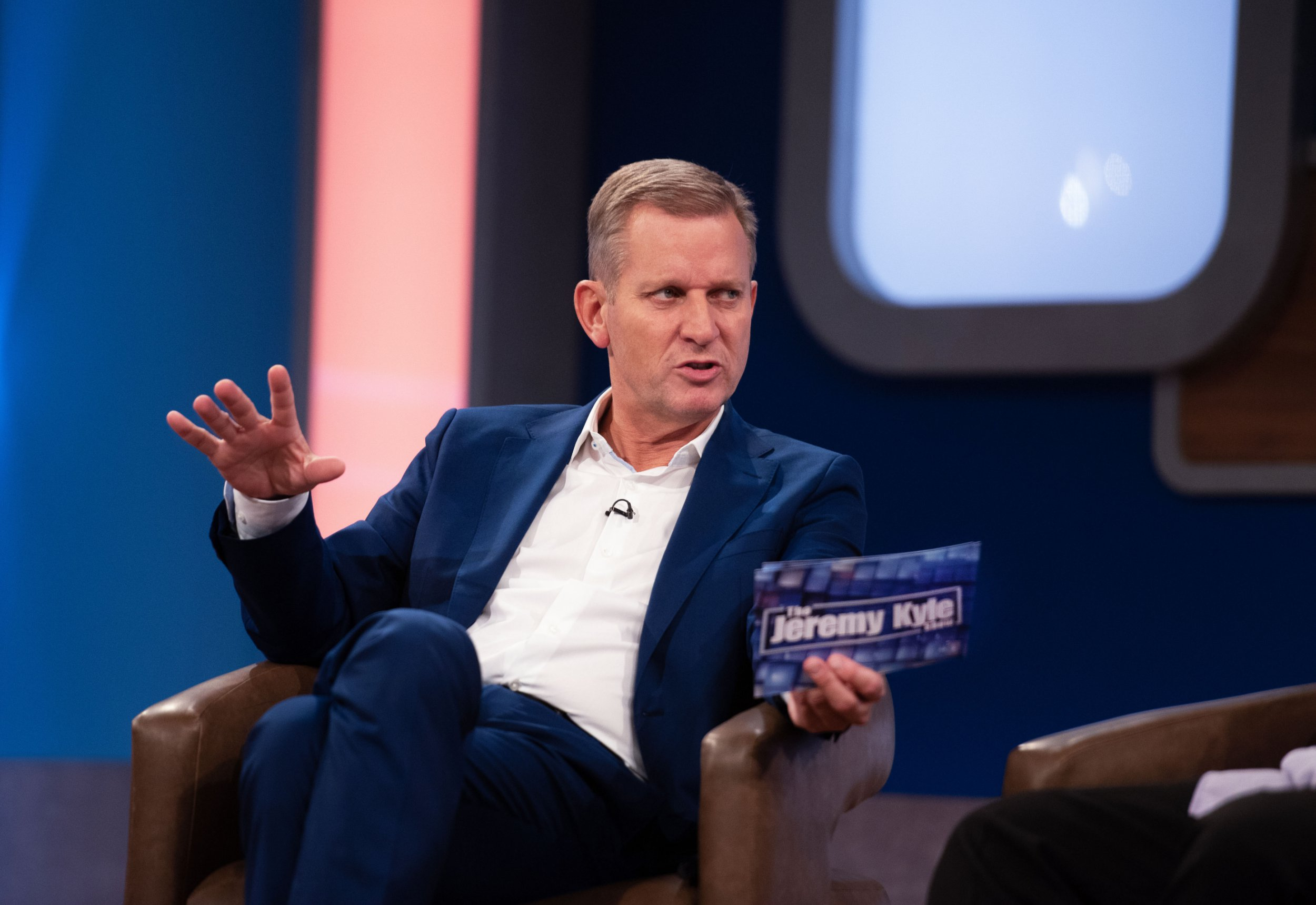 Jeremy Kyle on the set of The Jeremy Kyle Show