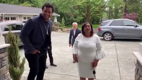Ciara and Russell Wilson leave his mum sobbing over surprise home in emotional Mother's Day video