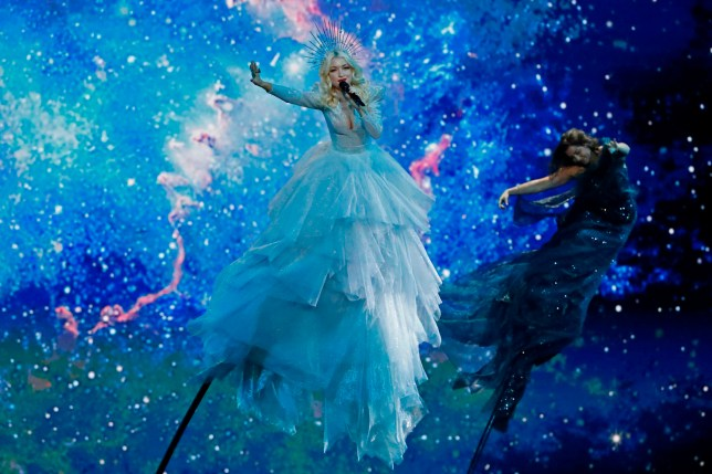 Australia's Kate Miller-Heidke performs the song Zero Gravity during the first semi-final of the 64th edition of the Eurovision Song Contest 2019 at Expo Tel Aviv on May 14, 2019, in the Israeli coastal city. (Photo by Jack GUEZ / AFP)JACK GUEZ/AFP/Getty Images