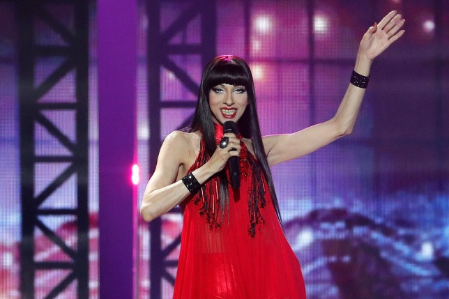 Singer Dana International of Israel performs during the first semi-final of 2019 Eurovision Song Contest in Tel Aviv, Israel May 14, 2019. REUTERS/Ronen Zvulun