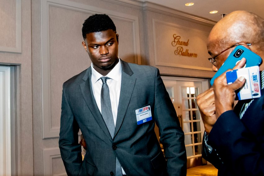Zion Williamson reacts to Pelicans winning No.1 pick in NBA draft lottery