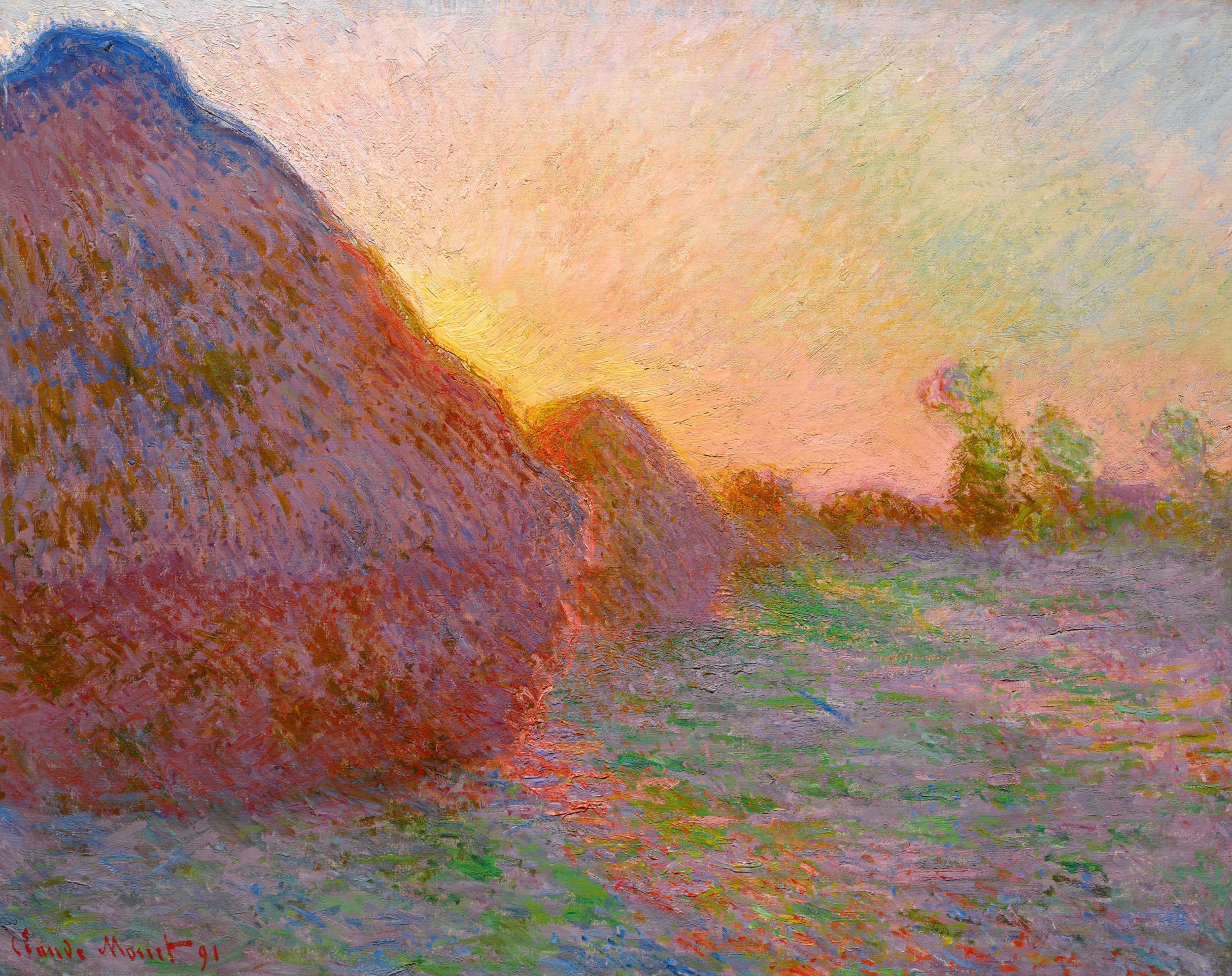 Claude Monet's Meules materspiece which sold at Sotheby's