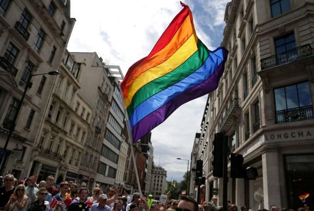 Pride flag in central London