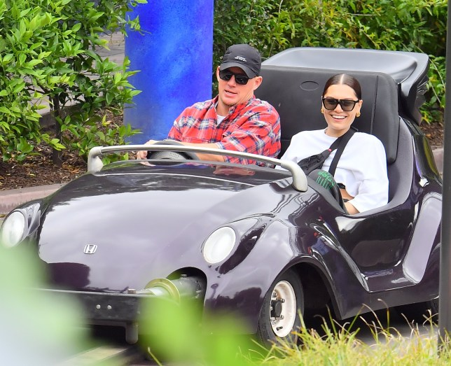 Channing Tatum and Jessie J at Disneyland