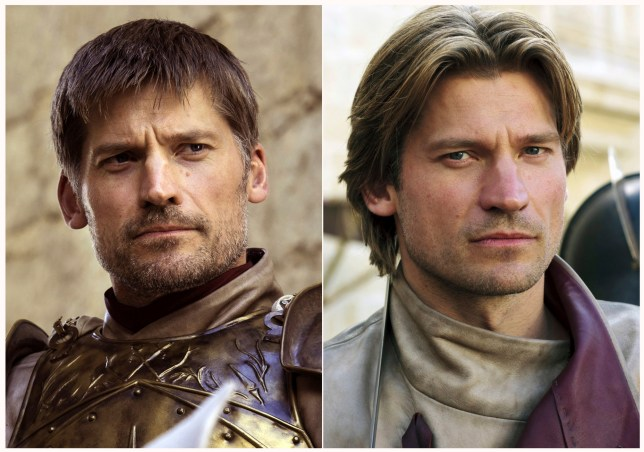 "This combination photo of images released by HBO shows Nikolaj Coster-Waldau portraying Jaime Lannister in ""Game of Thrones."" The final episode of the popular series airs on Sunday. (HBO via AP)"