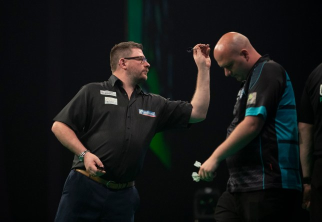 James Wade beating Rob Cross in the Premier League