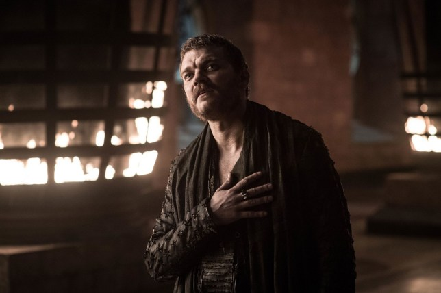 Editorial use only. No book cover usage. Mandatory Credit: Photo by HBO/BSkyB/Kobal/REX/Shutterstock (10222109bv) Pilou Asb?k as Euron Greyjoy 'Game of Thrones' TV Show Season 8 - 2019 Nine noble families fight for control over the mythical lands of Westeros, while an ancient enemy returns after being dormant for thousands of years.
