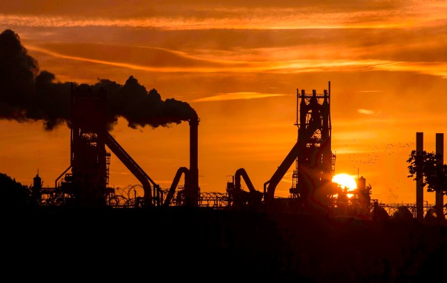 "(FILES) In this file photo taken on September 28, 2016 The sun rises behind the British Steel - Scunthorpe plant in north Lincolnshire, north east England on September 28, 2016. - British Steel said on May 17, 2019 it has secured the ""required liquidity"" from owners and lenders to avoid its collapse, as the troubled steelmaker battles ""significant"" Brexit strains and sector turmoil. (Photo by Lindsey Parnaby / AFP)LINDSEY PARNABY/AFP/Getty Images"