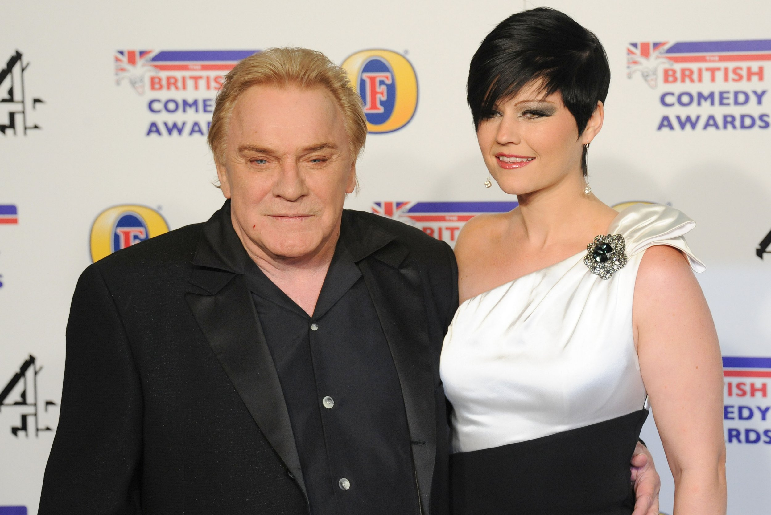 LONDON, UNITED KINGDOM - DECEMBER 16: Freddie Starr and Sophie Lea attend a British Comedy Awards during Fountain Studios on Dec 16, 2011 in London, England. (Photo by Stuart Wilson/Getty Images)