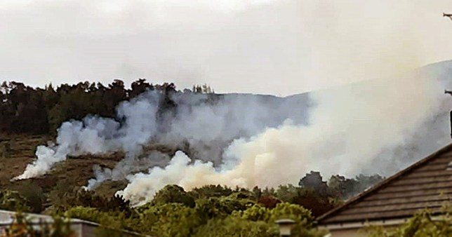 West Yorkshire Police Ilkley Moor fire picture: @IlkleyChat metrograb