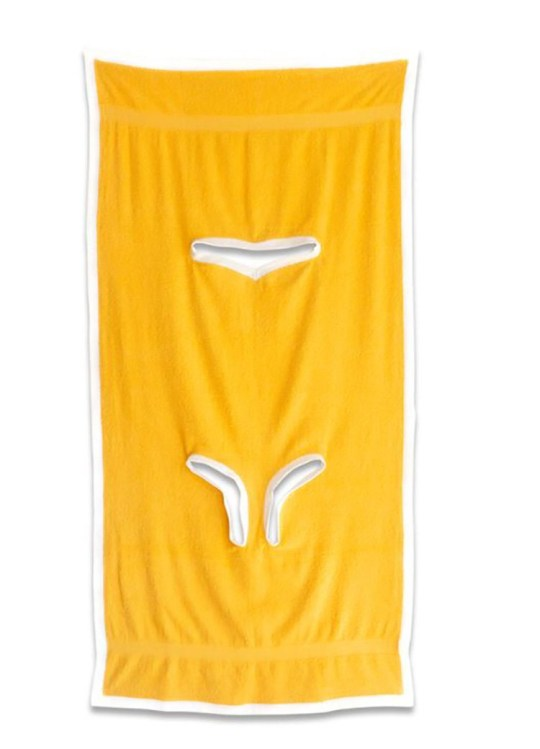 The Towelkini by Aria McManus in golden yellow