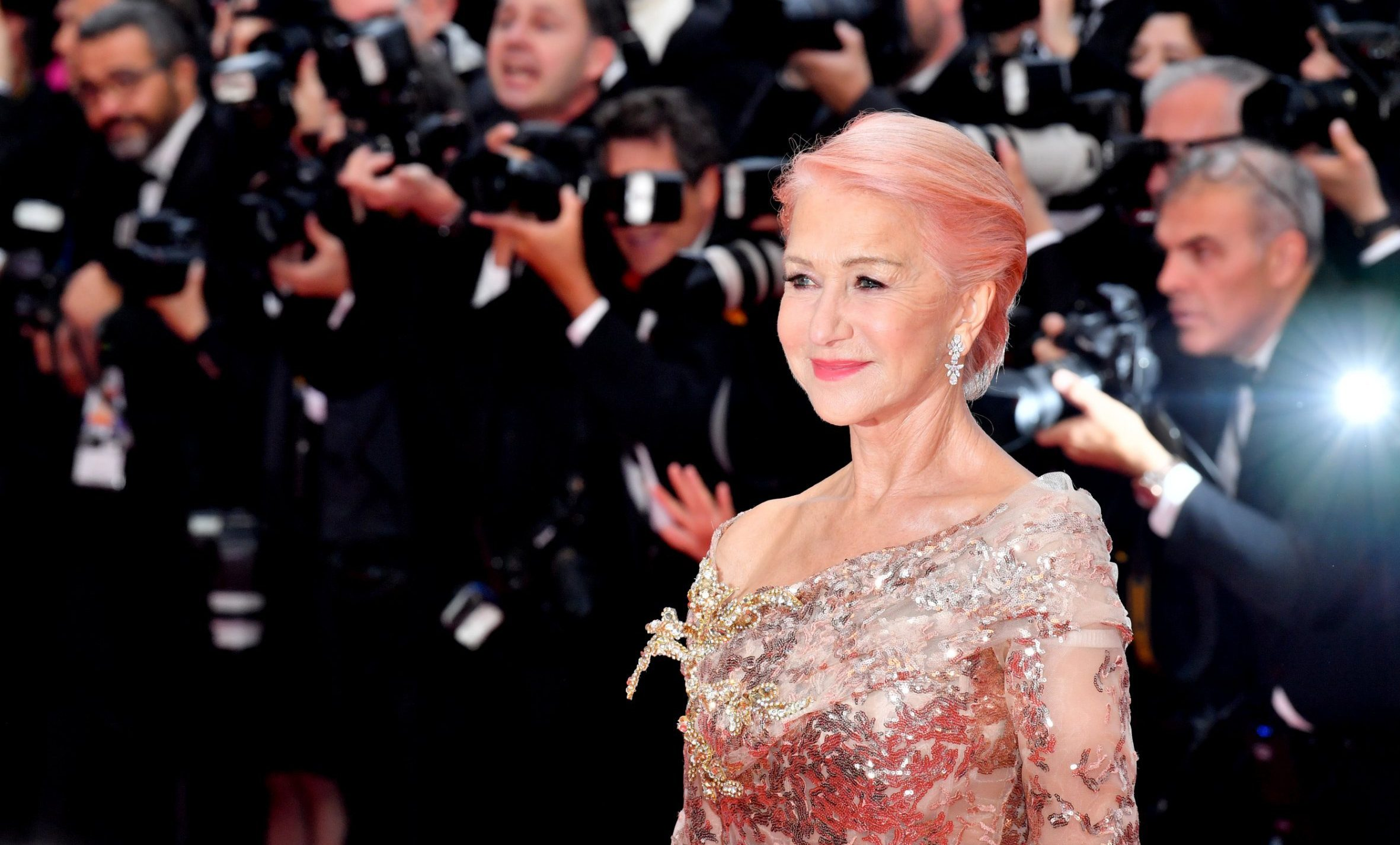 Helen Mirren is the definition of glamour as she debuts pink hair at Cannes Film Festival