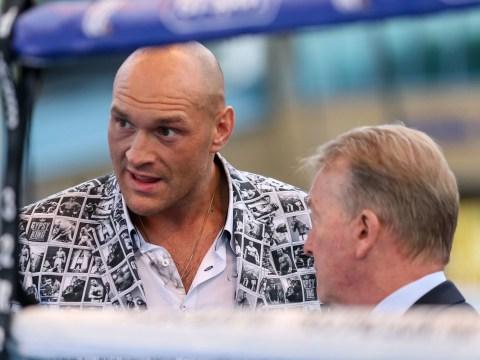 Frank Warren rubbishes Eddie Hearn's claim Tyson Fury vs Dillian Whyte is close
