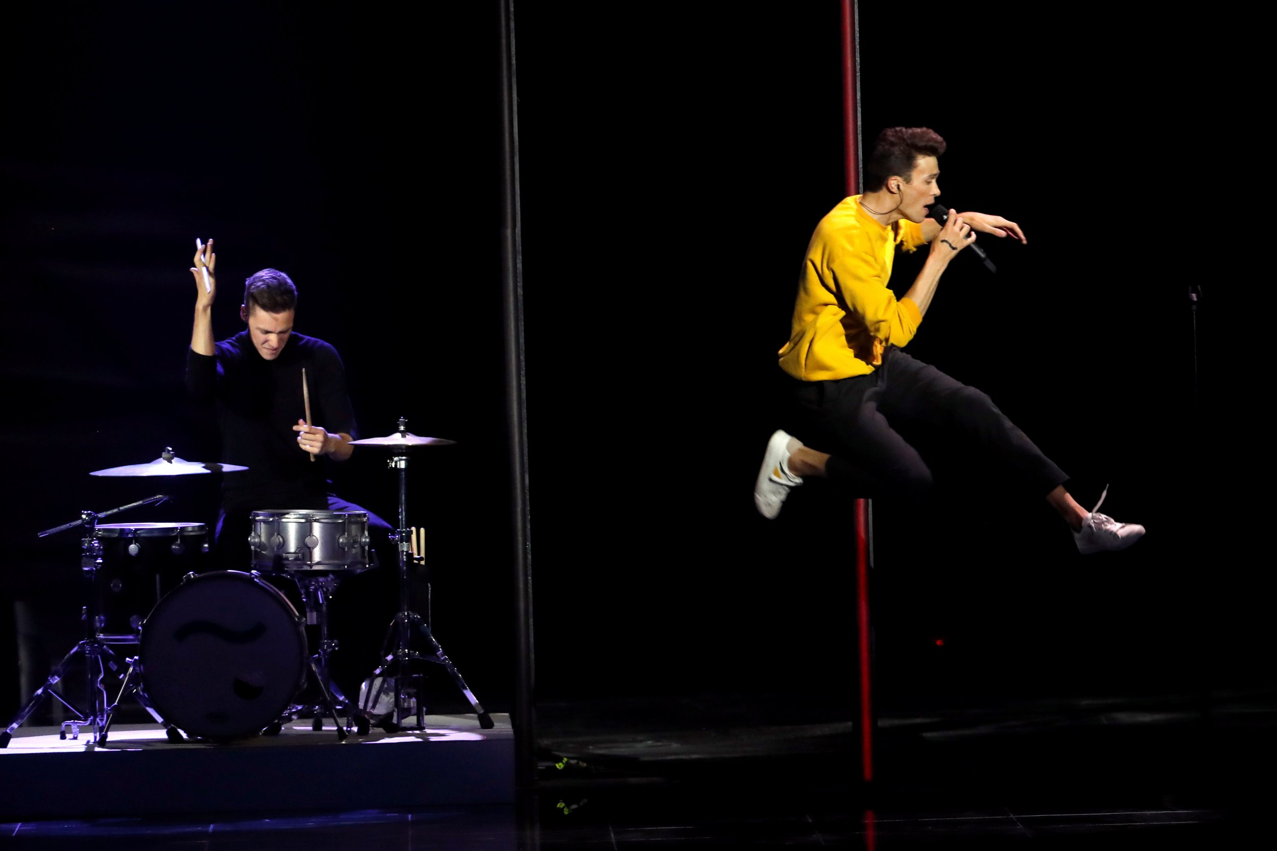 Czech Republic's Eurovision drummer accusing of miming – but he's forbidden from playing live