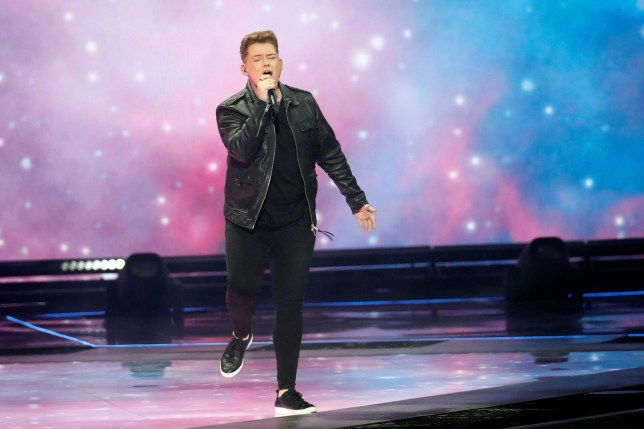 Michael Rice performs during the Grand Final of the 2019 Eurovision Song Contest in Tel Aviv, Israel