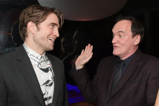 Robert Pattinson and Quentin Tarantino attend the Vanity Fair and Chopard Party celebrating the 72nd Annual Cannes Film Festival at Hotel du Cap-Eden-Roc on May 18, 2019 in Cap d'Antibes, France. (Photo by David M. Benett/Dave Benett/Getty Images)