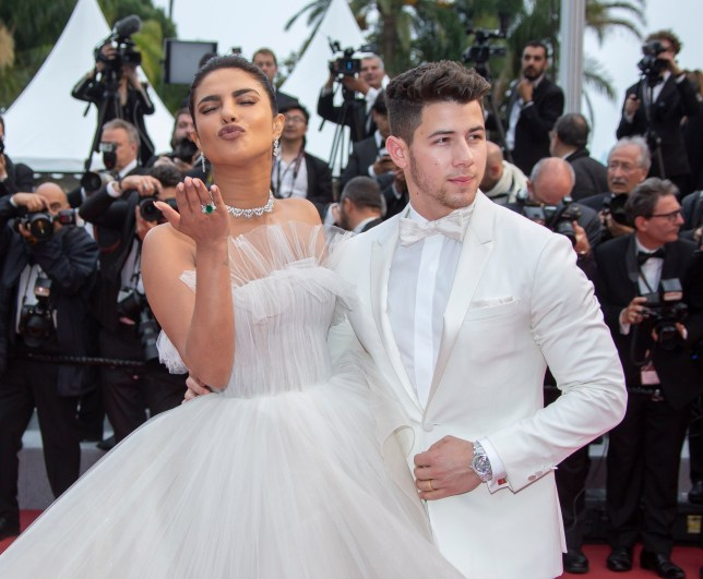 """Actress Priyanka Chopra and her husband Nick Jonas attend the screening of """"Les Plus Belles Annees D'Une Vie"""" during the 72nd annual Cannes Film Festival on May 18, 2019 in Cannes, France. 18 May 2019 Pictured: Actress Priyanka Chopra and her husband Nick Jonas. Photo credit: KCS Presse / MEGA TheMegaAgency.com +1 888 505 6342"""