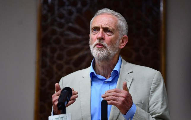 Labour leader Jeremy Corbyn speaking during a visit to Regents Park Mosque in London. PRESS ASSOCIATION Photo. Picture date: Sunday May 19, 2019. See PA story POLITICS Brexit. Photo credit should read: Victoria Jones/PA Wire