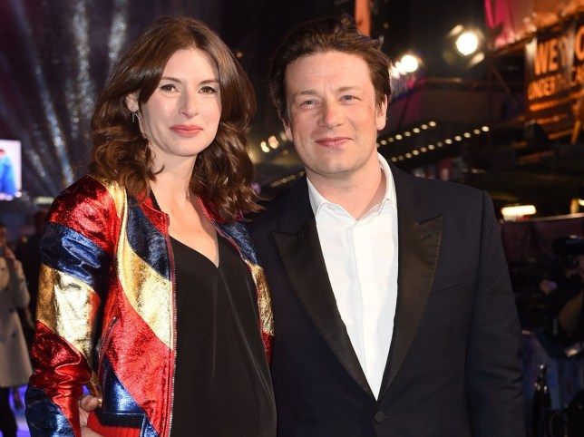 Mandatory Credit: Photo by Jonathan Hordle/REX/Shutterstock (5614924i) Jools Oliver and Jamie Oliver 'Eddie The Eagle' film premiere, London, Britain - 17 Mar 2016