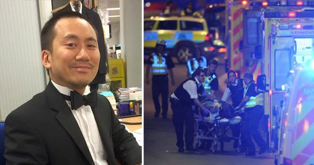 Geoffrey Ho said he tried to confront the attackers who then stabbed him multiple times in Borough Market during the London Bridge attack