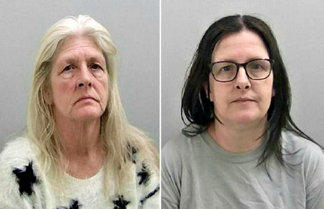 Jacqueline (L) and Samantha (R) Ashbury. Two female carers conned a vulnerable elderly man from Stourport, Worcestershire, out of thousands of pounds.