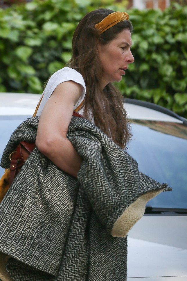 Jools Oliver seen leaving her house at 7.40 am this morning - London. 23 May 2019 Pictured: Jools Oliver. Photo credit: mega TheMegaAgency.com +1 888 505 6342