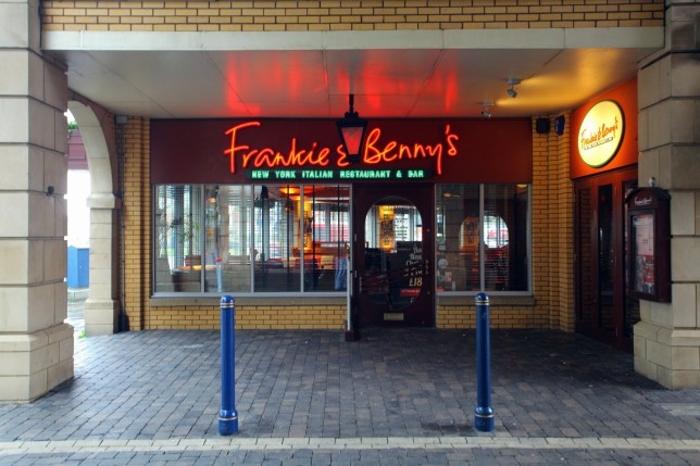 Mandatory Credit: Photo by REX/Shutterstock (1915451g) Frankie and Benny's restaurant in Wind Street, Swansea 2-year-old taken to hospital after accidentally being served whisky at Frankie & Bennys restaurant, Wales - 09 Oct 2012 *Full story: http://www.rexfeatures.com/nanolink/ihly A two-year-old boy had to be taken to hospital after accidentally being served whisky at a Frankie & Benny's restaurant. The incident occurred during Sonny Rees' 2nd birthday when he given a glass of 40% proof whisky rather than fruit juice. His mother Nina only realised the mistake after the toddler had nearly finished the drink. Sonny had to be taken to hospital in Swansea where he was kept under observation by doctors. According to Nina she ordered Sonny a lime juice and water and encouraged him to drink it all. It wasn't until the youngster had finished most of the drink that she noticed he was pulling a face as he drank. When Nina herself took a sip she was shocked to discover it was actually whisky and water.