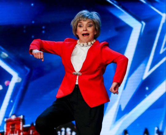 This image is strictly embargoed until 12.00 Saturday 25th May 2019 From Syco / Thames Britain's Got Talent: SR13: Ep8 on ITV Pictured: Kath Thompson. This photograph is (C) Syco/Thames and can only be reproduced for editorial purposes directly in connection with the programme or event mentioned above, or ITV plc. Once made available by ITV plc Picture Desk, this photograph can be reproduced once only up until the transmission [TX] date and no reproduction fee will be charged. Any subsequent usage may incur a fee. This photograph must not be manipulated [excluding basic cropping] in a manner which alters the visual appearance of the person photographed deemed detrimental or inappropriate by ITV plc Picture Desk. This photograph must not be syndicated to any other company, publication or website, or permanently archived, without the express written permission of ITV Picture Desk. Full Terms and conditions are available on the website www.itv.com/presscentre/itvpictures/terms For further information please contact: james.hilder@itv.com / 0207 157 3052