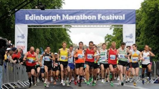 The start of the Edinburgh Marathon