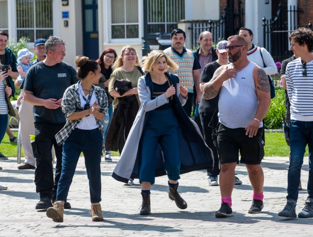 Doctor Who's Jodie Whittaker filming in Gloucester