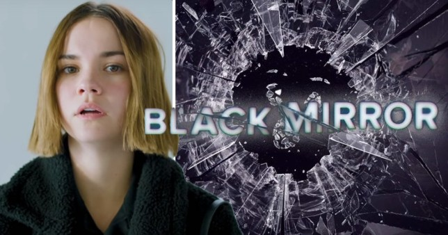 Actress Maia Mitchell in Netflix's Little Black Mirror