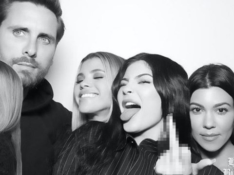 Sofia Richie cuddles up to Scott Disick and his ex Kourtney and the maturity has us shook