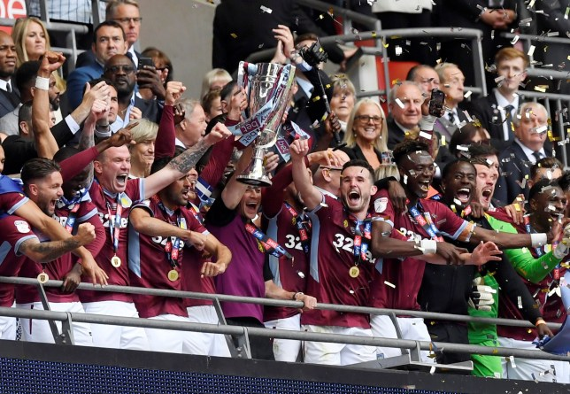 Aston Villa beat Derby to secure promotion to the Premier League