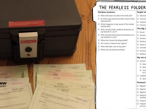 Woman creates a 'fearless folder' with a genius checklist for her family in case she dies unexpectedly