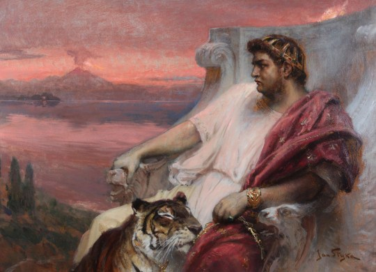 Nero at Baiae, c. 1900. Private Collection. (Photo by Fine Art Images/Heritage Images/Getty Images)