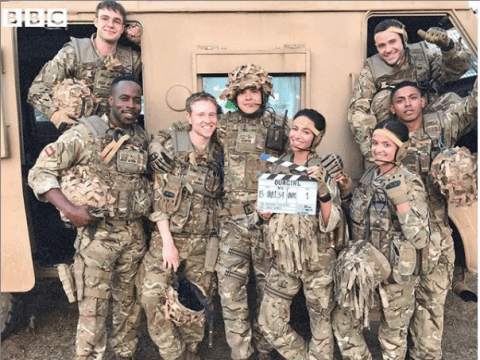 Michelle Keegan goes make-up free as filming for series 4 of Our Girl gets way underway