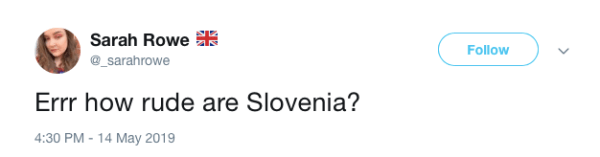 Reaction to Slovenia at Eurovision press conference