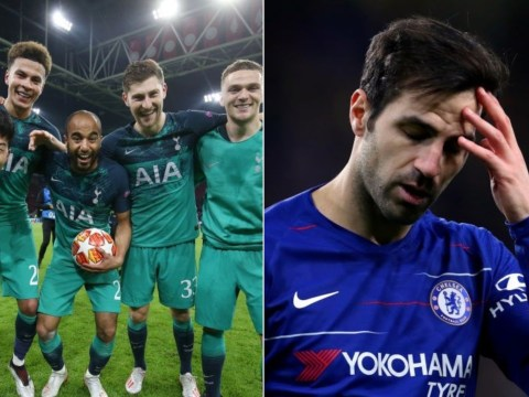 Cesc Fabregas angers Arsenal and Chelsea fans with his comments about Tottenham's comeback against Ajax