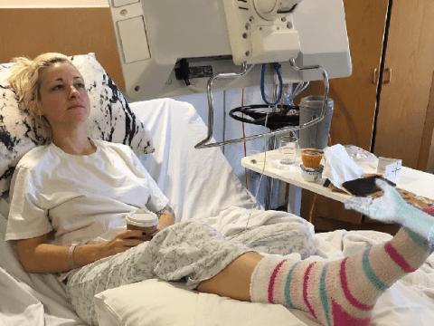 Australia's Kate Miller-Heidke got a blister during Eurovision filming and ended up in hospital