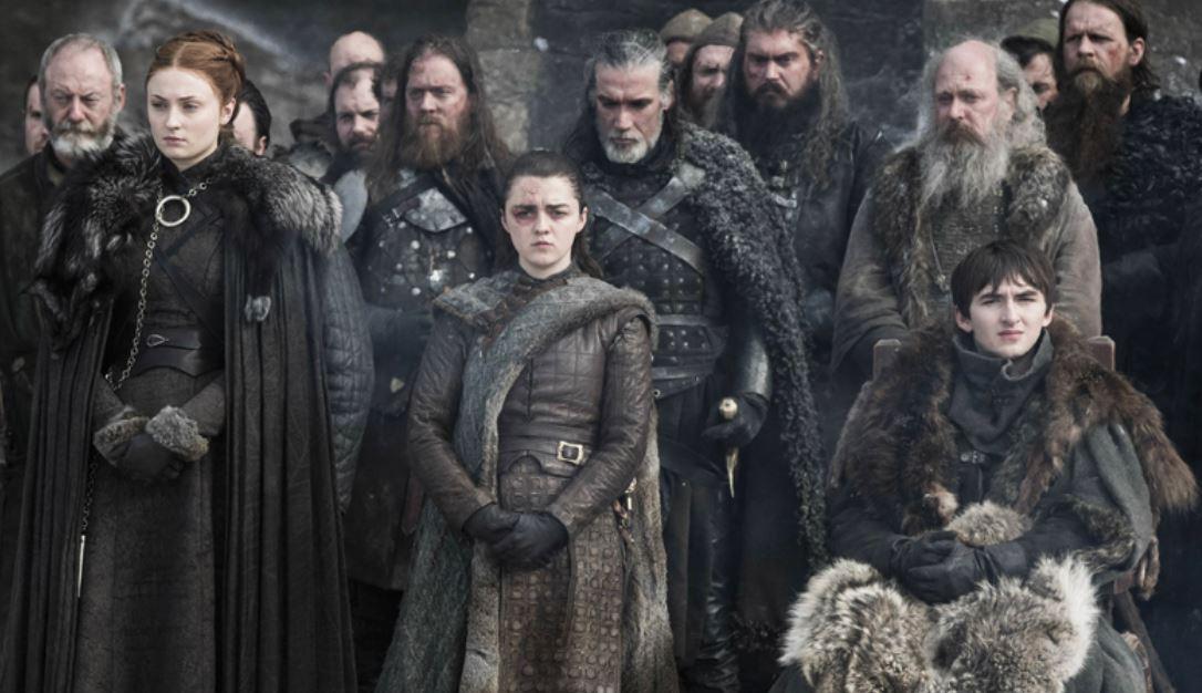 Arya STark has a black eye in episode four of Game Of Thrones season 8