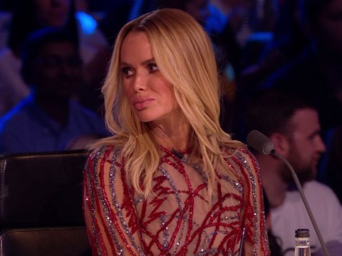 Amanda Holden looked petrified when The Haunting almost made it through on Britain's Got Talent