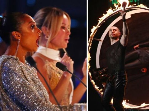 Amanda Holden fears pregnant Alesha Dixon could go into labour over Britain's Got Talent knife act