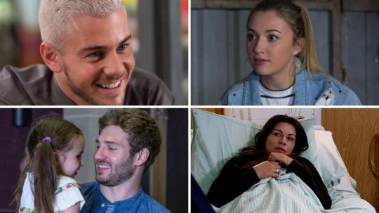 Soap spoilers for Joel in Hollyoaks, Louise in EastEnders, Jamie in Emmerdale and Carla in Coronation Street